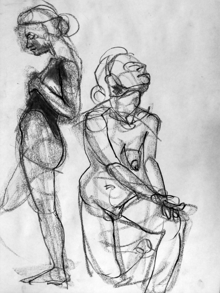 gesture drawings five minutes