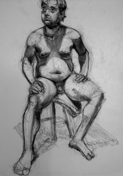 male figure longer pose
