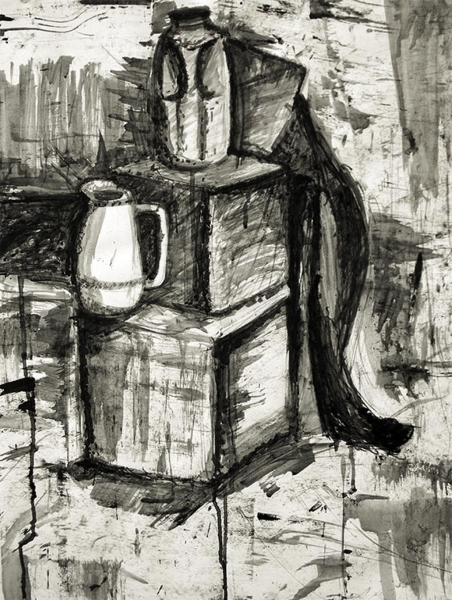 ink wash still life
