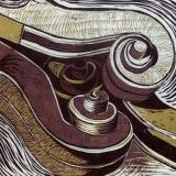 Hidden Scroll -reduction woodcut